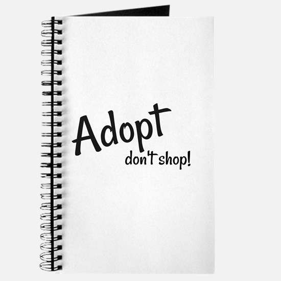 Adopt. Don't shop! Journal