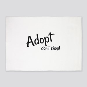Adopt. Don't shop! 5'x7'Area Rug