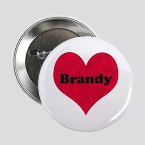 Brandy Leather Heart Button