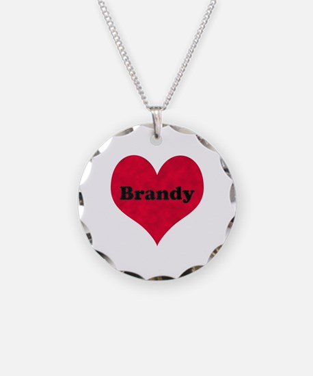 Brandy Leather Heart Necklace