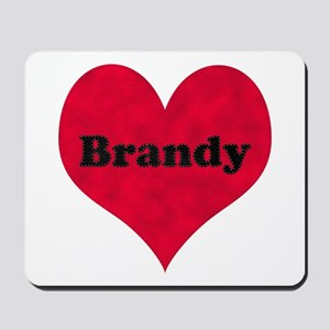 Brandy Leather Heart Mousepad
