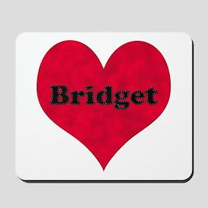 Bridget Leather Heart Mousepad
