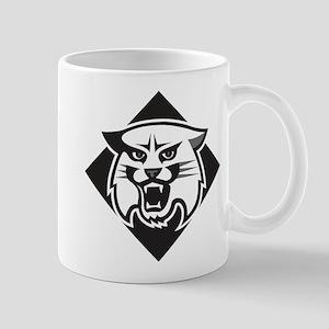 Davidson Wildcat Mascot Head Bla 11 oz Ceramic Mug