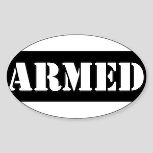 Armed Sticker (Oval)