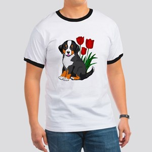 bernese puppy and tulips Ringer T