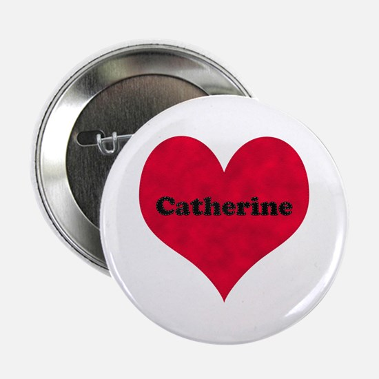 Catherine Leather Heart Button