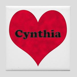 Cynthia Leather Heart Tile Coaster