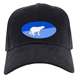 Polar Bear Mom and Cub Black Cap with Patch