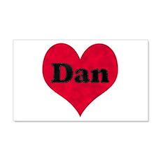 Dan Leather Heart 22x14 Wall Peel