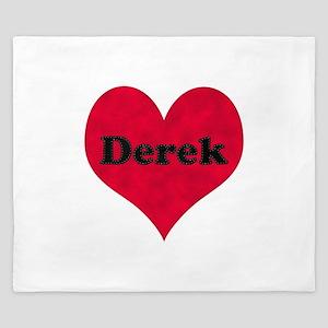 Derek Leather Heart King Duvet