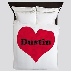 Dustin Leather Heart Queen Duvet