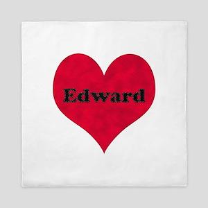 Edward Leather Heart Queen Duvet