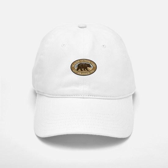 Glacier Brown Bear Badge Baseball Baseball Cap
