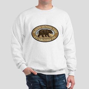 Glacier Brown Bear Badge Sweatshirt