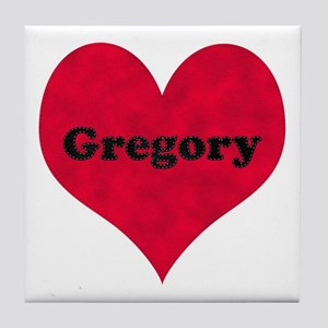 Gregory Leather Heart Tile Coaster