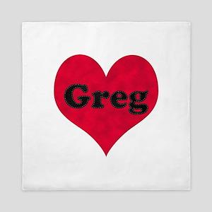 Greg Leather Heart Queen Duvet