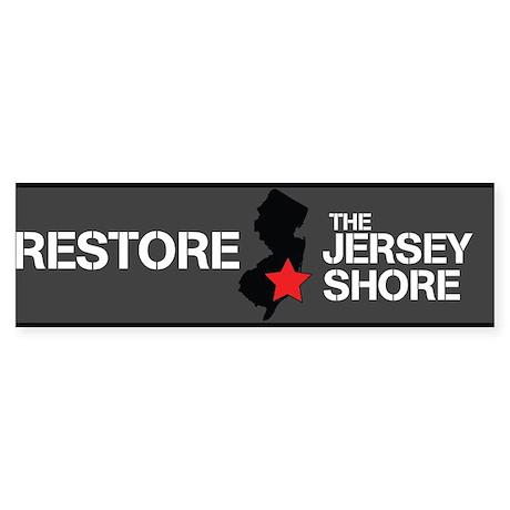 Restore The Jersey Shore Sticker (Bumper)