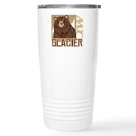 Glacier Grumpy Grizzly Stainless Steel Travel Mug