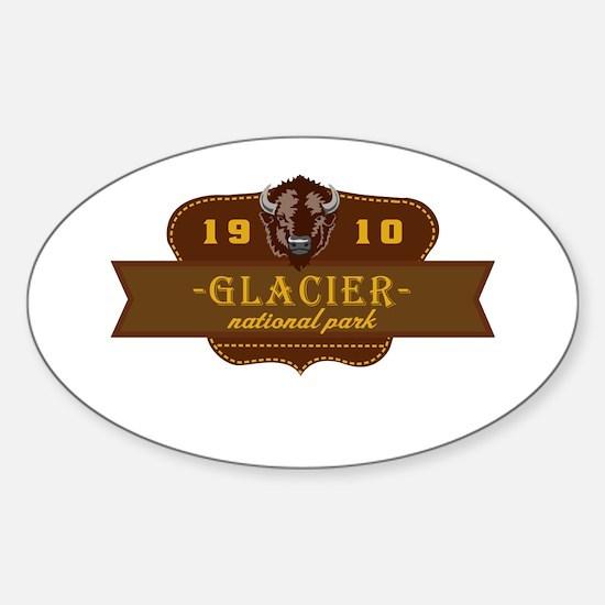 Glacier National Park Crest Sticker (Oval)