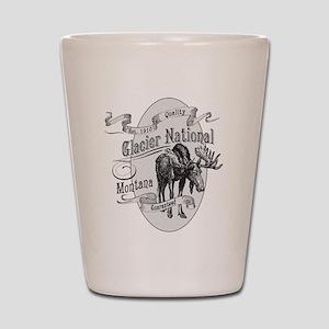 Glacier National Vintage Moose Shot Glass