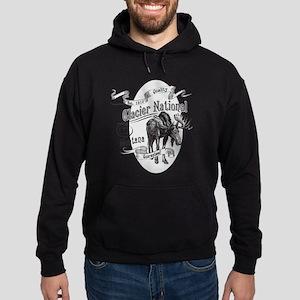 Glacier National Vintage Moose Hoodie (dark)