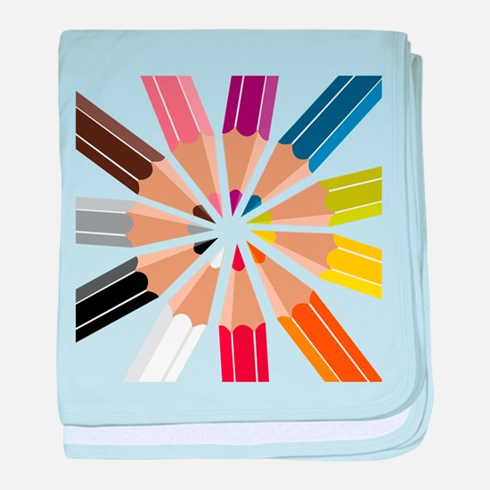 Colored Pencils baby blanket