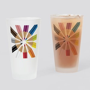 Colored Pencils Drinking Glass