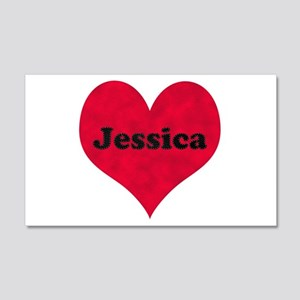 Jessica Leather Heart 22x14 Wall Peel