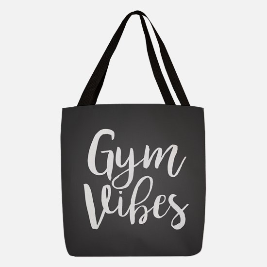 Gym Vibes Polyester Tote Bag