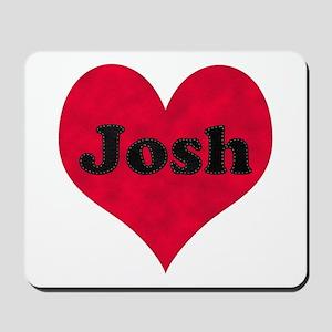 Josh Leather Heart Mousepad