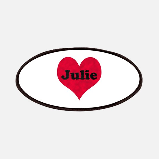 Julie Leather Heart Patch