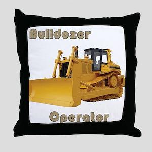 Bulldozer Operator Throw Pillow