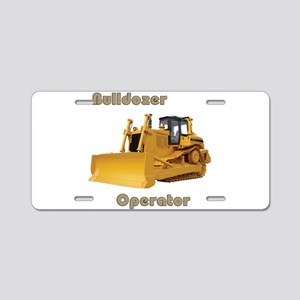 Bulldozer Operator Aluminum License Plate