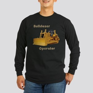 Bulldozer Operator Long Sleeve Dark T-Shirt