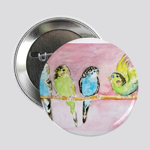 """Parakeets Posturing 2.25"""" Button (10 pack)"""