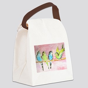 Parakeets Posturing Canvas Lunch Bag