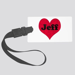 Jeff Leather Heart Large Luggage Tag