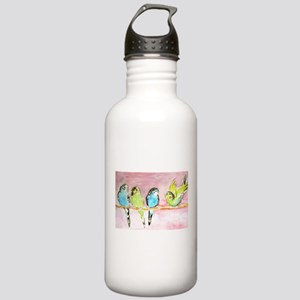 Parakeets Posturing Stainless Water Bottle 1.0L