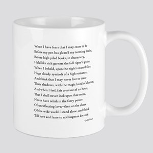 Keats - When I Have Fears... Large Mugs