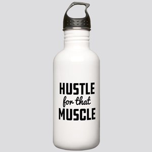 Hustle For That Muscle Stainless Water Bottle 1.0L