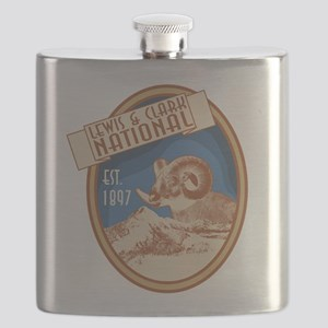 Lewis and Clark Bighorn Badge Flask