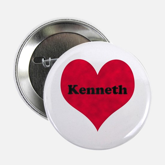 Kenneth Leather Heart Button