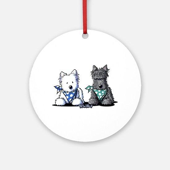 KiniArt™ Terrier Twosome Ornament (Round)