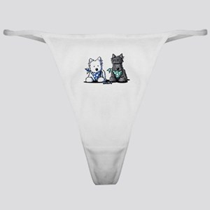 KiniArt™ Terrier Twosome Classic Thong