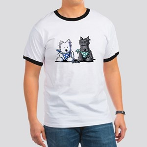 KiniArt™ Terrier Twosome Ringer T