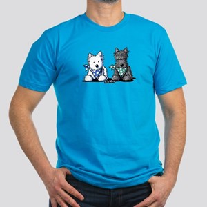 KiniArt™ Terrier Twosome Men's Fitted T-Shirt (dar