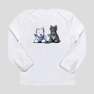 KiniArt™ Terrier Twosome Long Sleeve Infant T-Shir