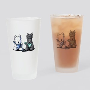 KiniArt™ Terrier Twosome Drinking Glass