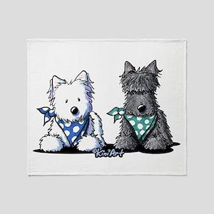KiniArt™ Terrier Twosome Throw Blanket