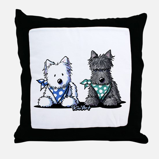 KiniArt™ Terrier Twosome Throw Pillow